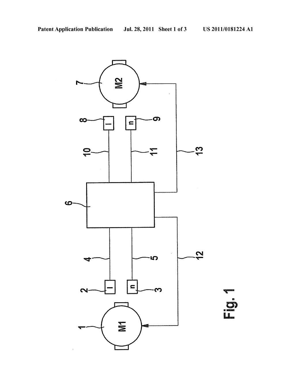 METHOD FOR MEASURING AN OPERATING VARIABLE AT MULTIPLE ELECTRIC MOTORS OF     AN AUTOMATIC PARKING BRAKE - diagram, schematic, and image 02