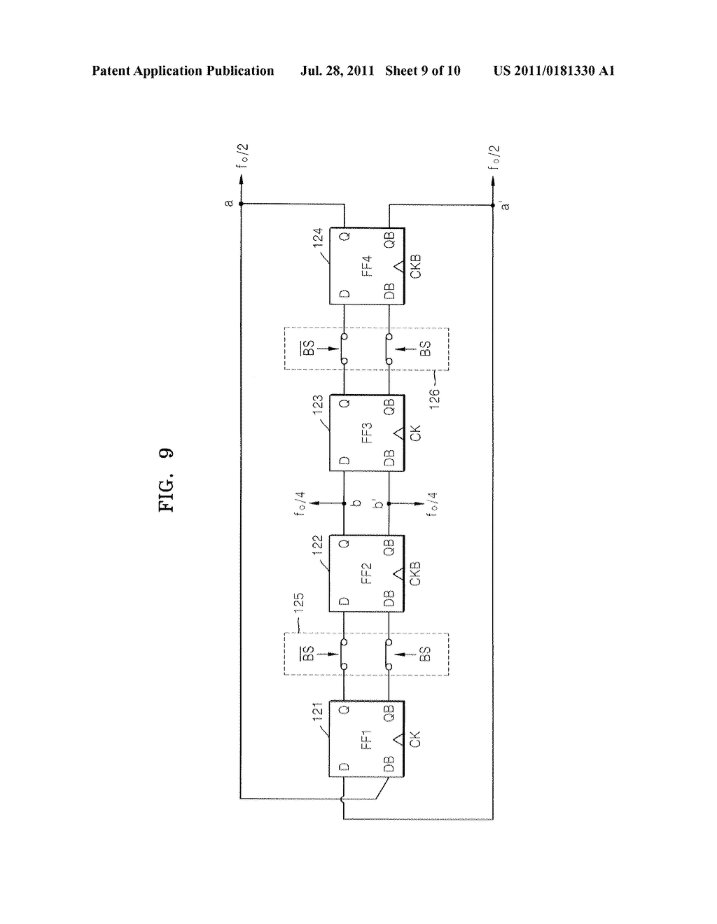 FLIP-FLOP, FREQUENCY DIVIDER AND RF CIRCUIT HAVING THE SAME