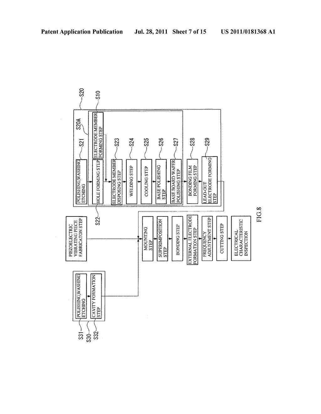 PACKAGE MANUFACTURING METHOD, PIEZOELECTRIC VIBRATOR MANUFACTURING METHOD,     OSCILLATOR, ELECTRONIC DEVICE, AND RADIO-CONTROLLED TIMEPIECE - diagram, schematic, and image 08