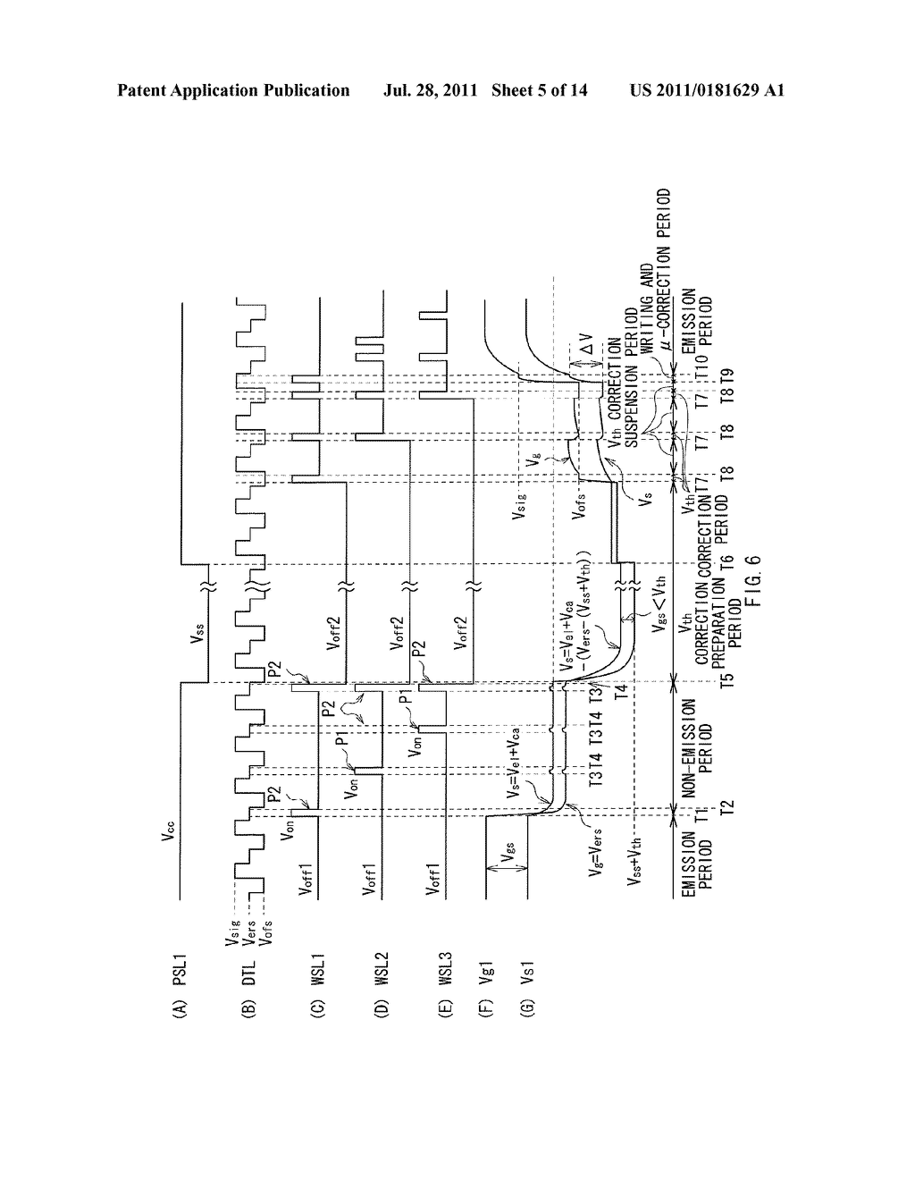 DISPLAY DEVICE, METHOD OF DRIVING THE DISPLAY DEVICE, AND ELECTRONIC     DEVICE - diagram, schematic, and image 06