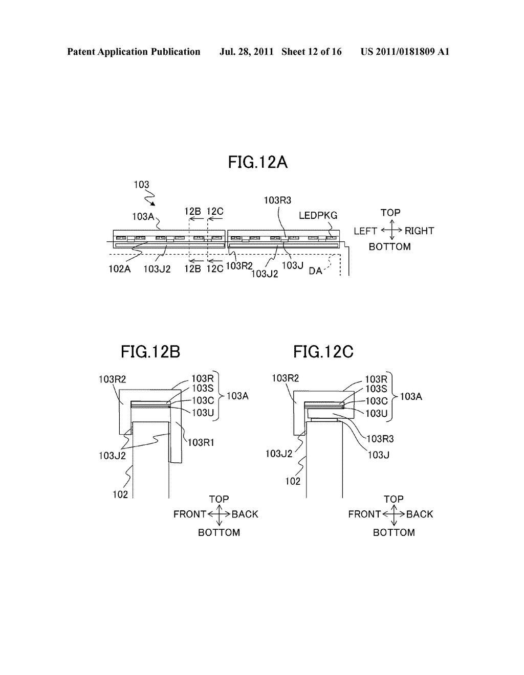 LIQUID CRYSTAL DISPLAY DEVICE AND ILLUMINATING DEVICE - diagram, schematic, and image 13