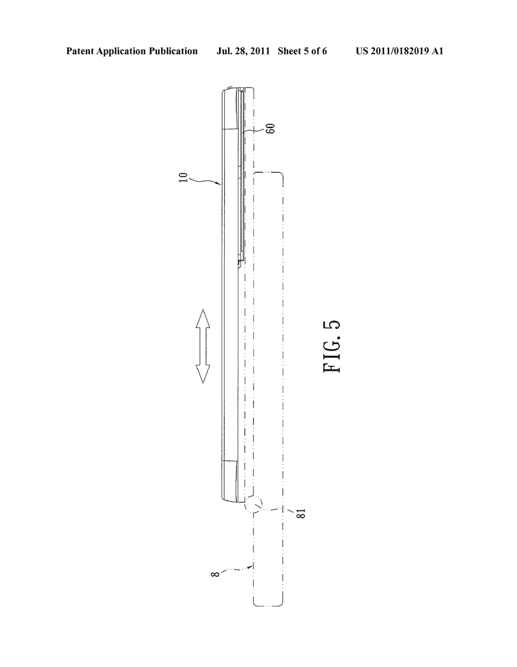 DISPLAY STRUCTURE OF SLIP-COVER-HINGE ELECTRONIC DEVICE - diagram, schematic, and image 06