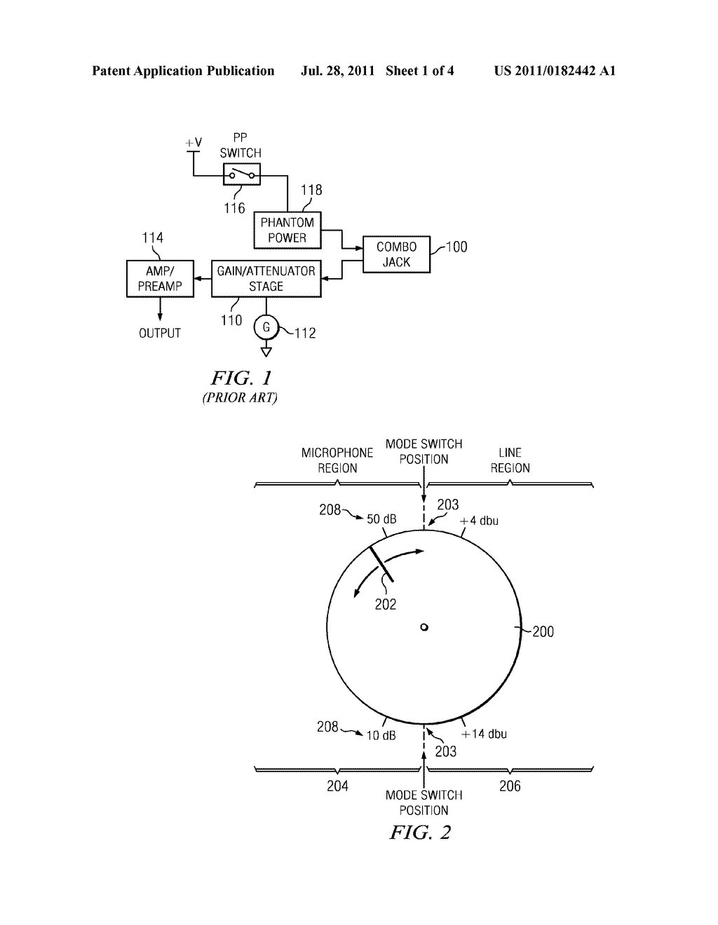 COMBINATION LINE OR MICROPHONE INPUT CIRCUITRY - diagram, schematic, and image 02