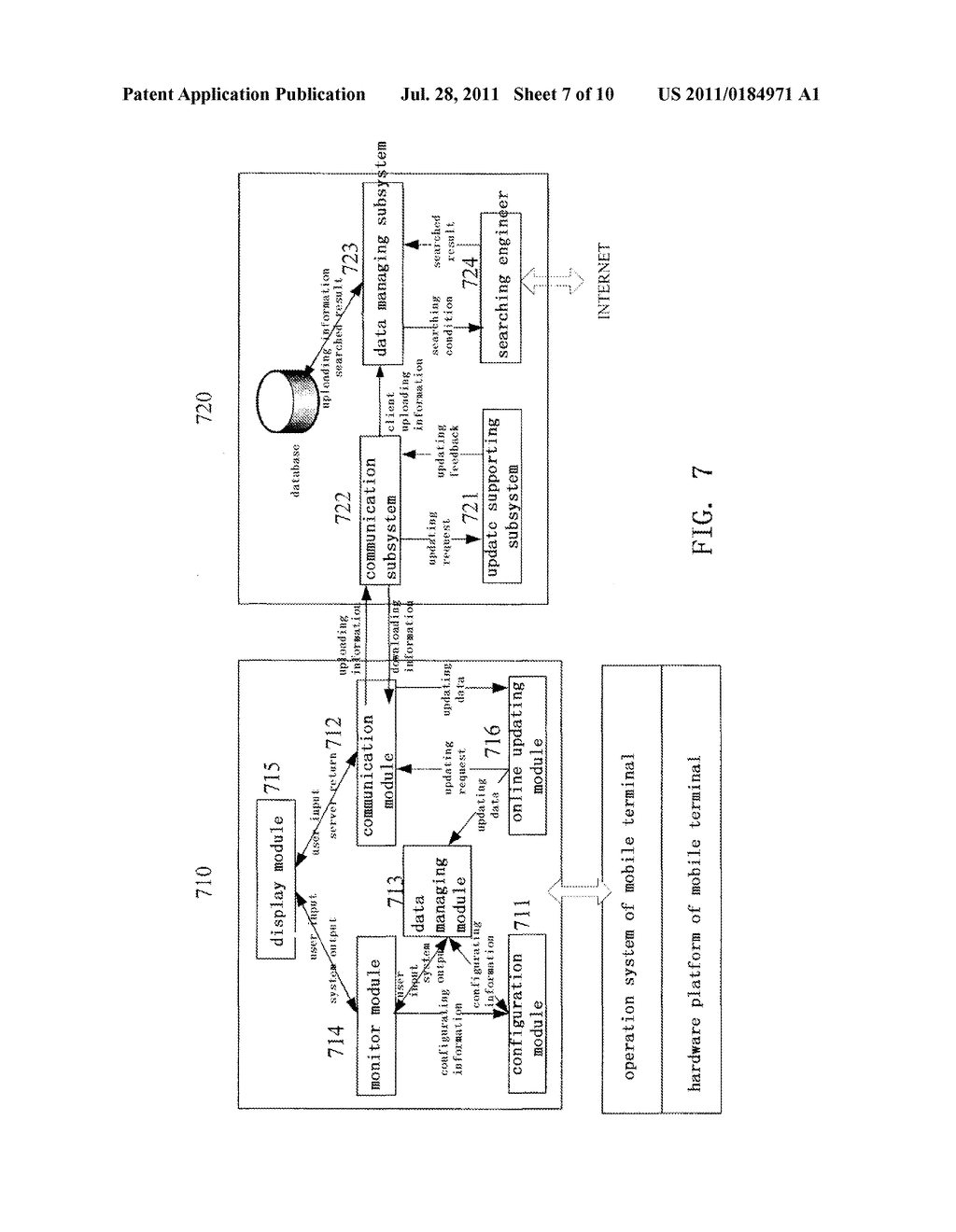 METHOD AND SYSTEM FOR QUICKLY RETRIEVING INFORMATION SERVICE ON MOBILE     TERMINAL - diagram, schematic, and image 08