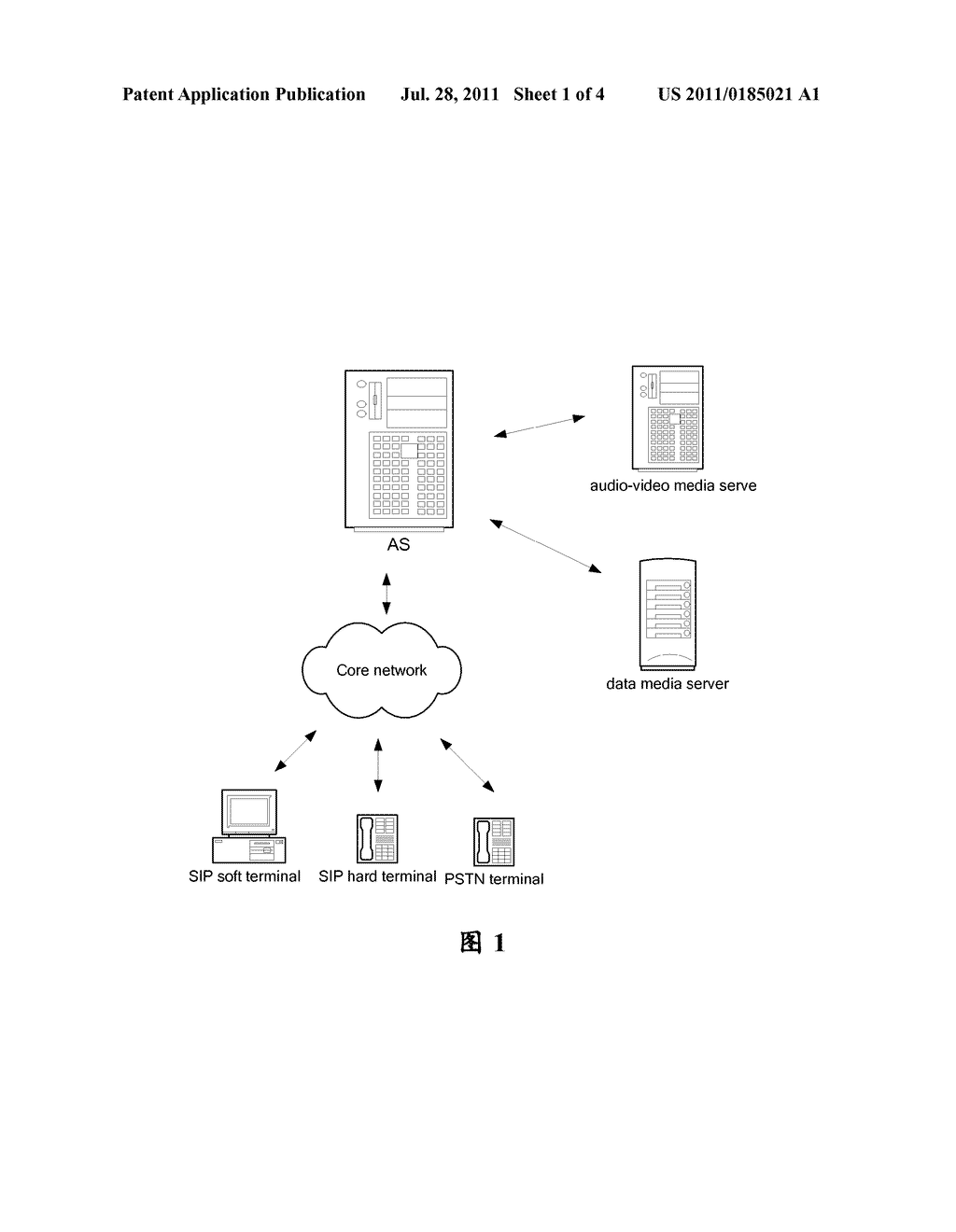 METHOD AND APPARATUS FOR CONTROLLING A MULTIMEDIA CONFERENCE BY AN     APPLICATION SERVER - diagram, schematic, and image 02