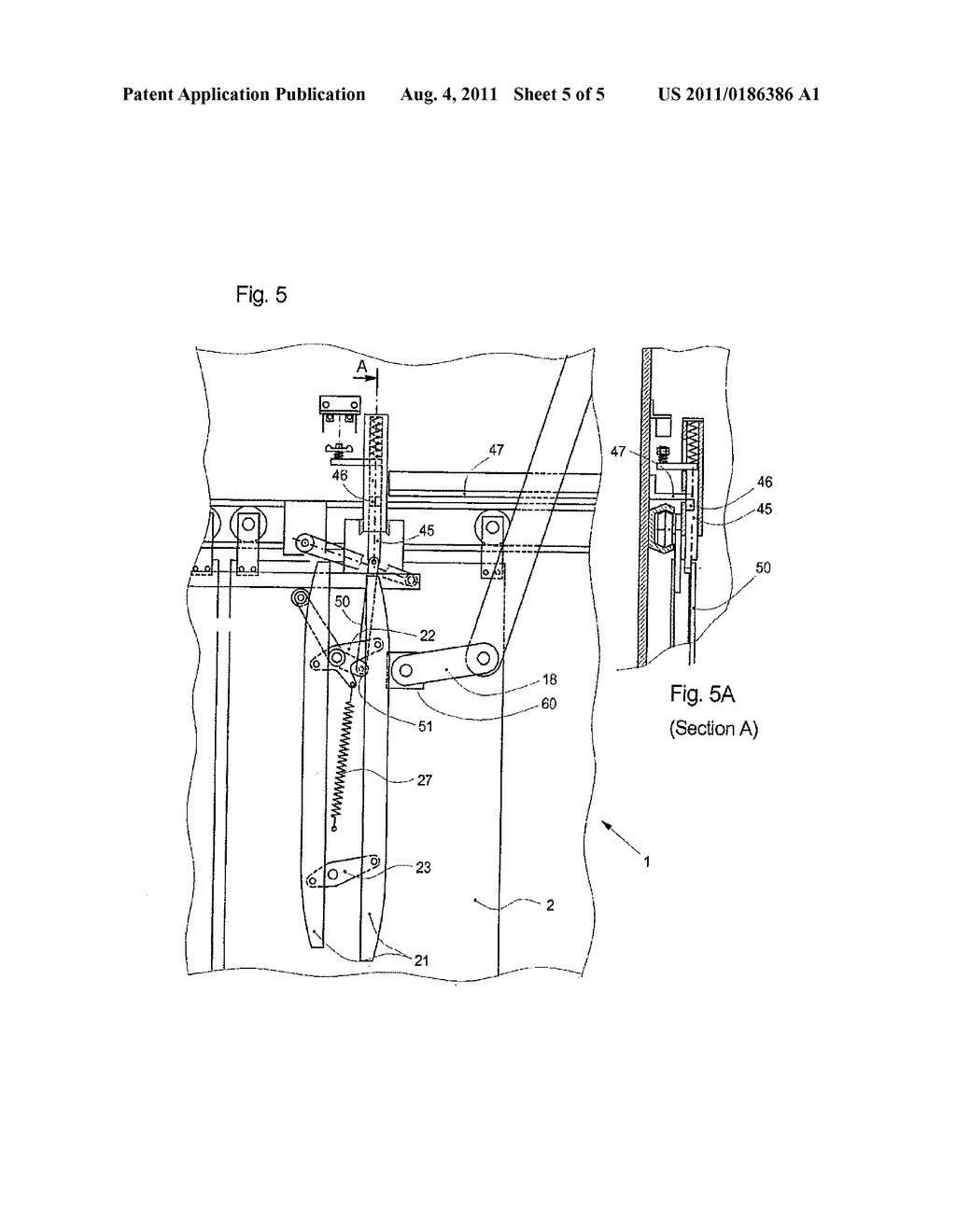 elevator door system comprising a car door locking mechanism - diagram,  schematic, and image 06