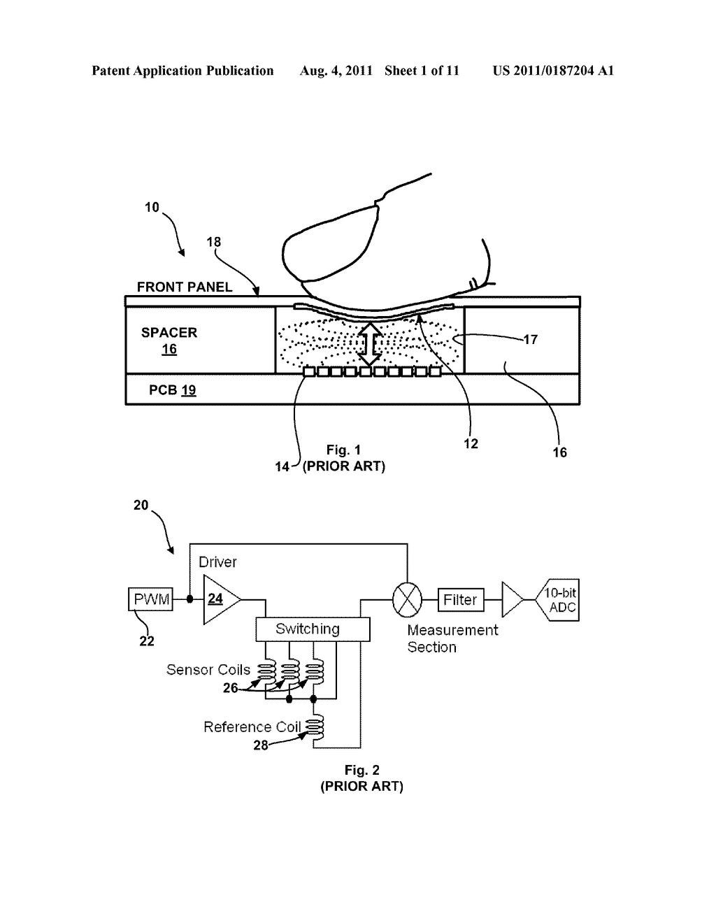 INDUCTIVE TOUCH KEY SWITCH SYSTEM, ASSEMBLY AND CIRCUIT - diagram, schematic,  and image 02