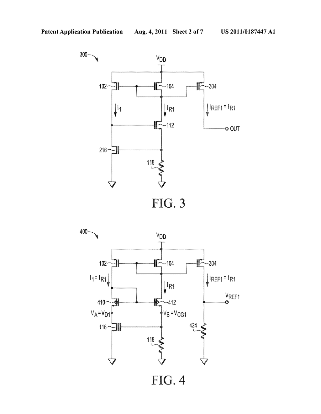 MIXED-MODE CIRCUITS AND METHODS OF PRODUCING A REFERENCE CURRENT AND A     REFERENCE VOLTAGE - diagram, schematic, and image 03