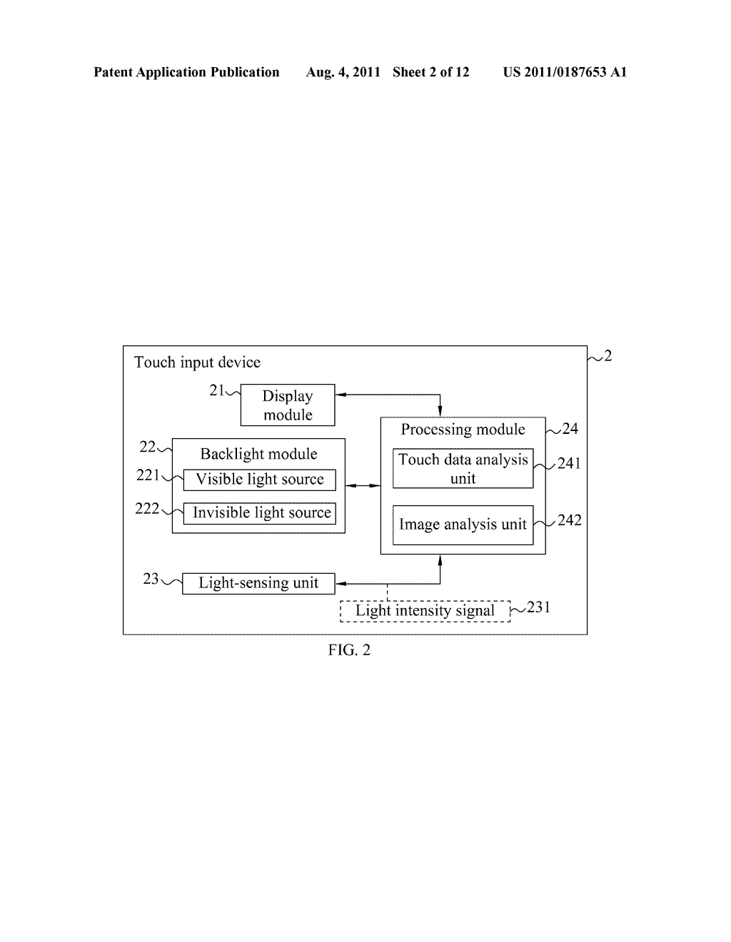 TOUCH INPUT METHOD AND DEVICE THEREOF - diagram, schematic, and image 03