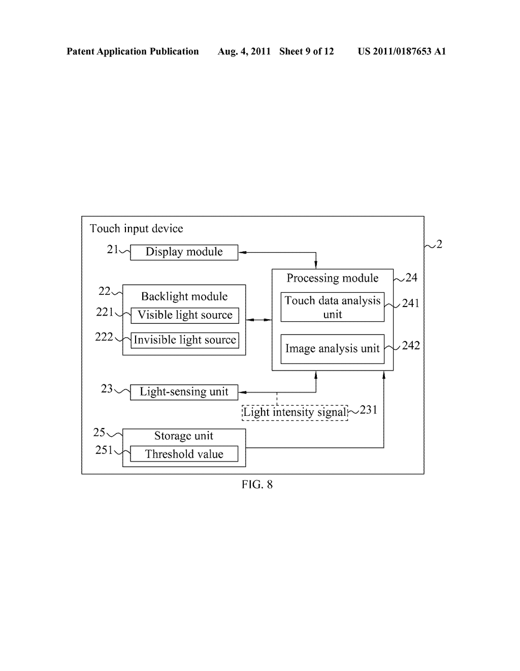 TOUCH INPUT METHOD AND DEVICE THEREOF - diagram, schematic, and image 10