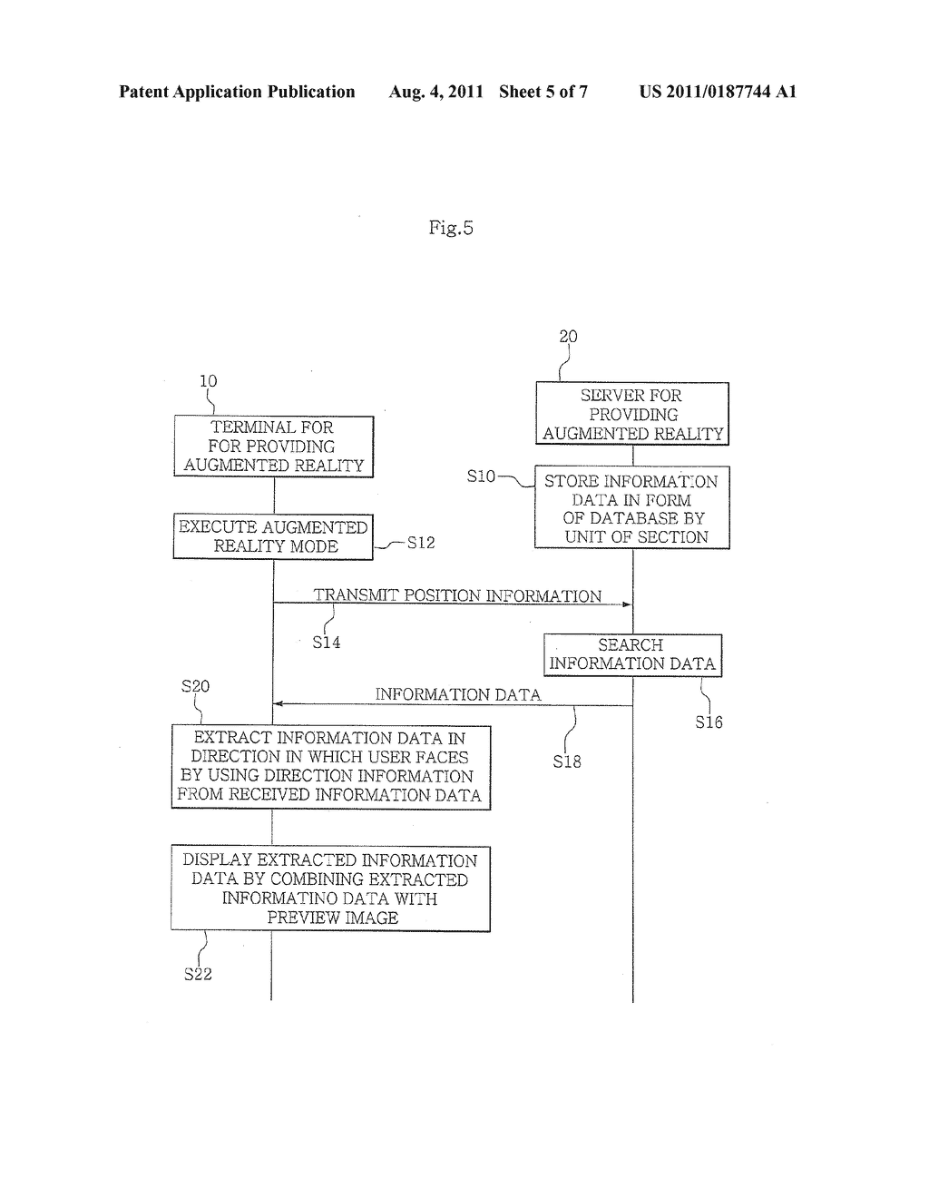 SYSTEM, TERMINAL, SERVER, AND METHOD FOR PROVIDING AUGMENTED REALITY - diagram, schematic, and image 06