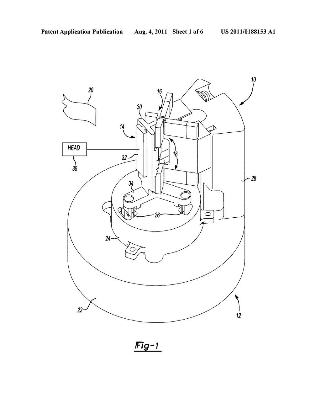 Method of Retaining a Magnetically Preloaded Anti-Rotation Guide for a     Transducer - diagram, schematic, and image 02