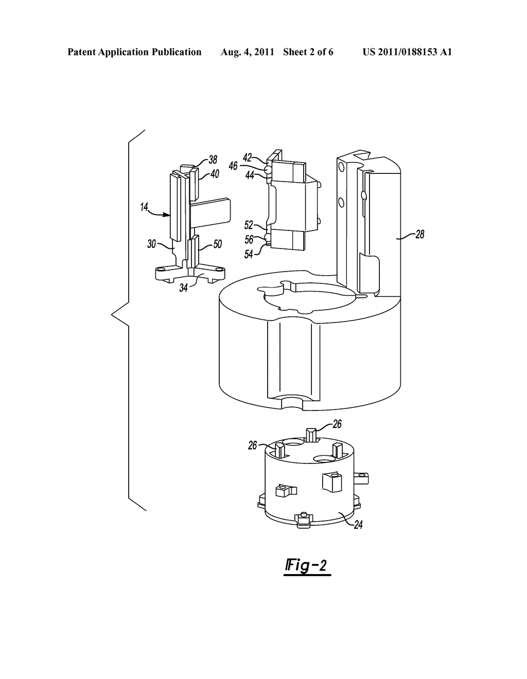 Method of Retaining a Magnetically Preloaded Anti-Rotation Guide for a     Transducer - diagram, schematic, and image 03