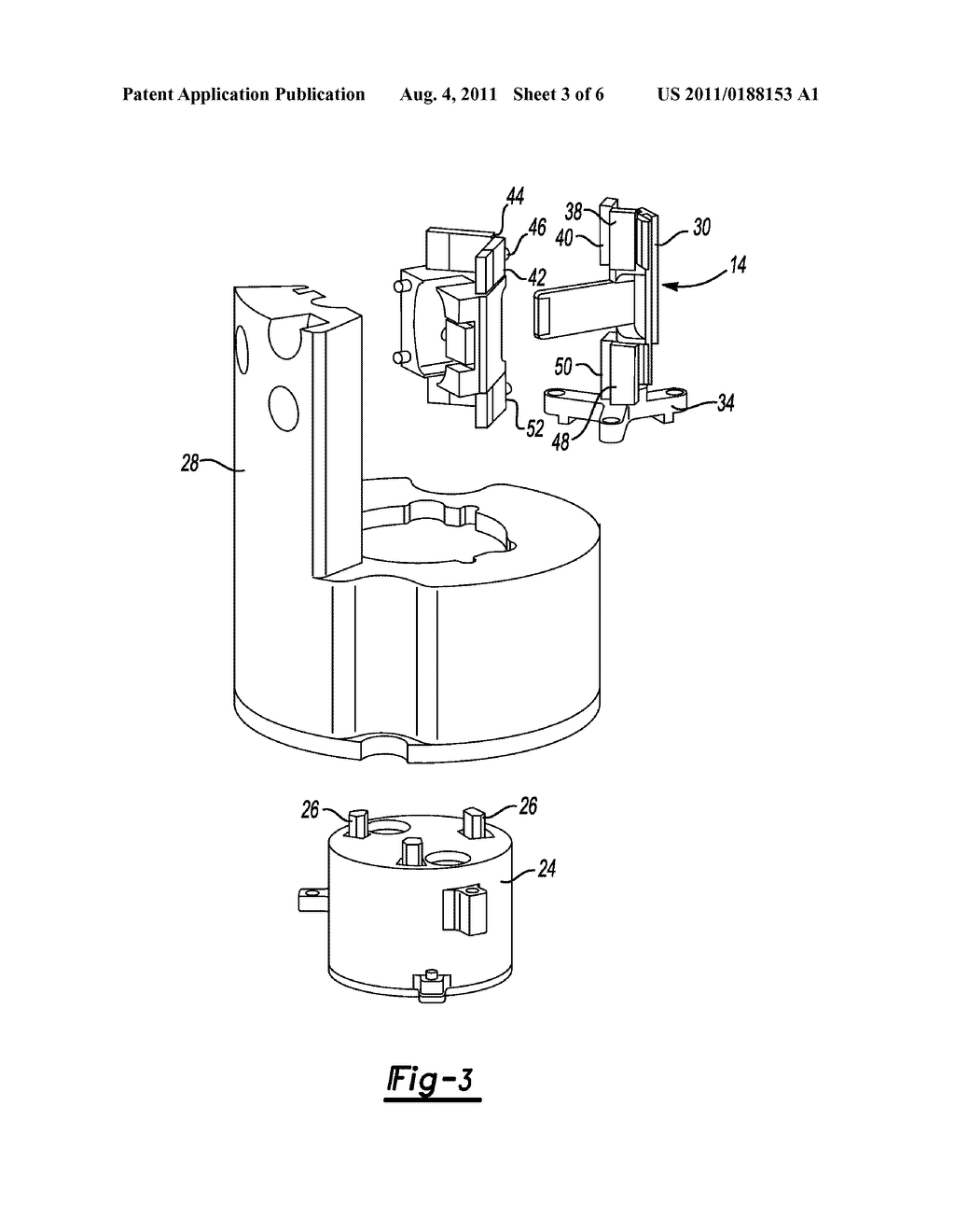 Method of Retaining a Magnetically Preloaded Anti-Rotation Guide for a     Transducer - diagram, schematic, and image 04