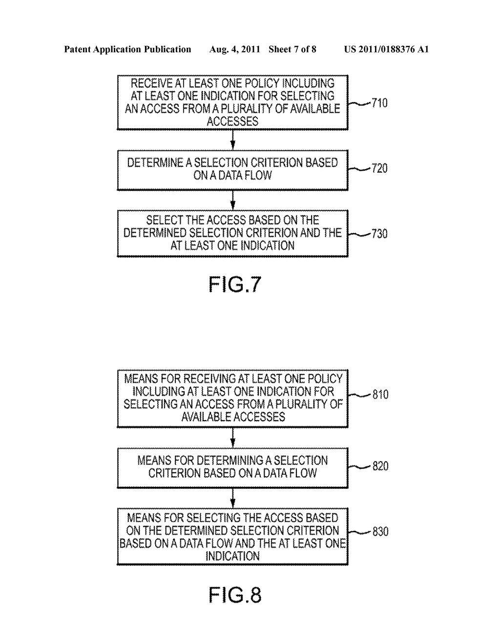 APPARATUS AND METHOD FOR ALLOCATING DATA FLOWS BASED ON INDICATION OF     SELECTION CRITERIA - diagram, schematic, and image 08