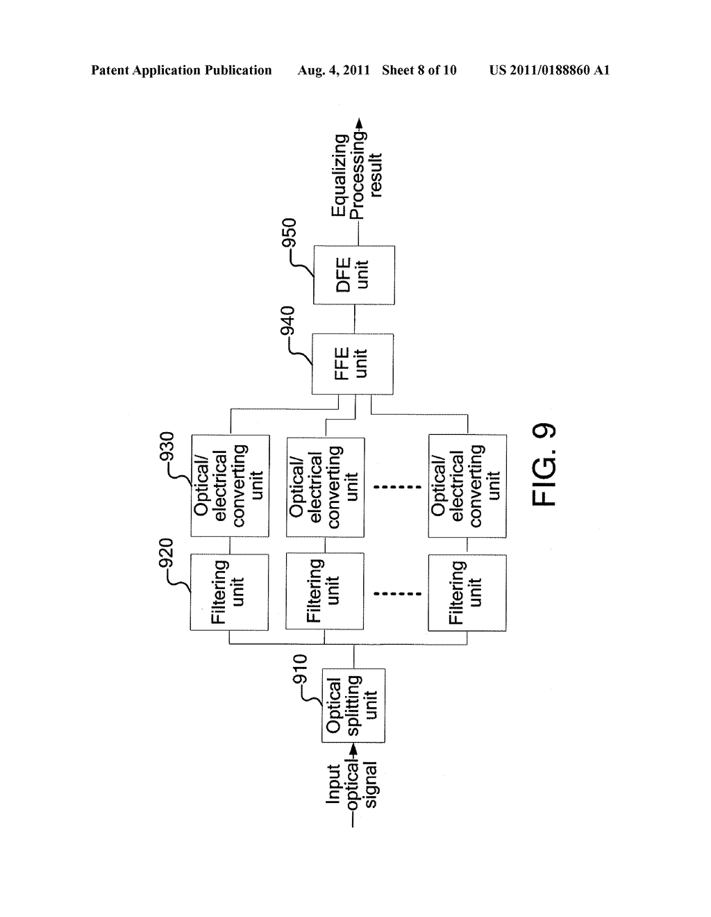 ELECTRICAL EQUALIZING PROCESSING METHOD AND DEVICE FOR OPTICAL SIGNAL AND     OPTICAL FIBER COMMUNICATION SYSTEM - diagram, schematic, and image 09