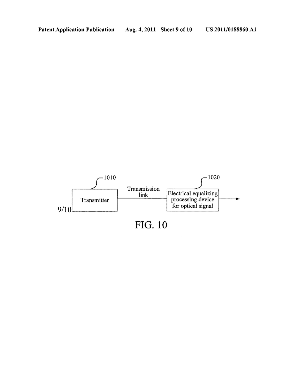 ELECTRICAL EQUALIZING PROCESSING METHOD AND DEVICE FOR OPTICAL SIGNAL AND     OPTICAL FIBER COMMUNICATION SYSTEM - diagram, schematic, and image 10