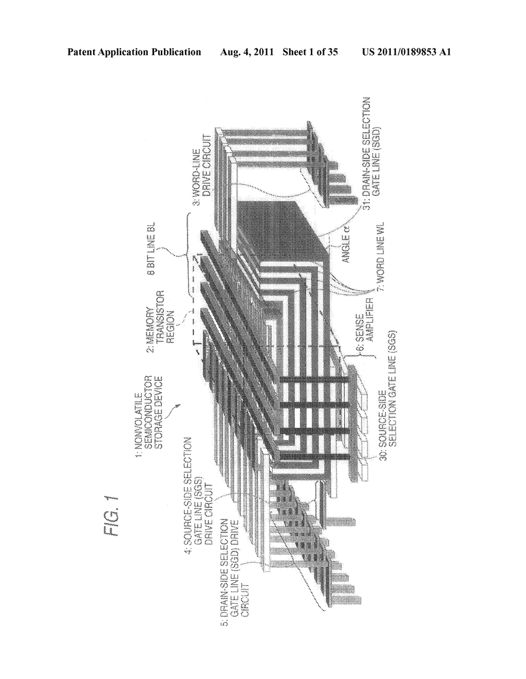 NONVOLATILE SEMICONDUCTOR STORAGE APPARATUS AND METHOD FOR MANUFACTURING     THE SAME - diagram, schematic, and image 02