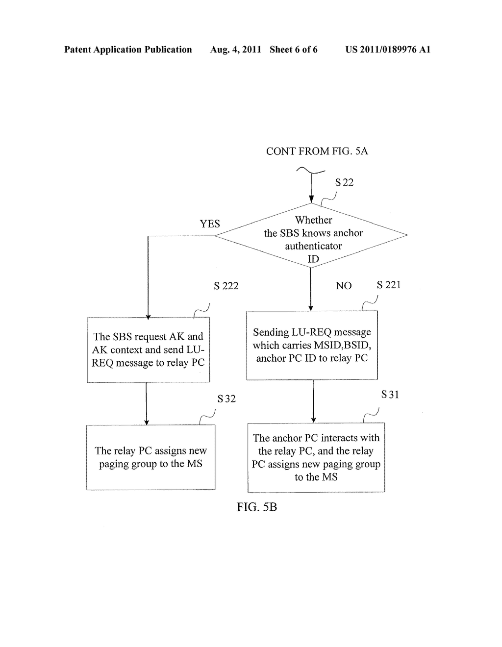 Paging group network and method for updating mobile station locations - diagram, schematic, and image 07