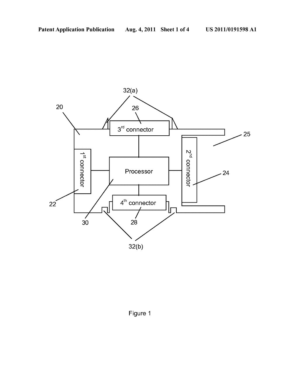 DOCK FOR A PORTABLE HARD DISK AND A METHOD FOR ACCESSING CONTENT ON A     HOST DEVICE USING THE DOCK - diagram, schematic, and image 02