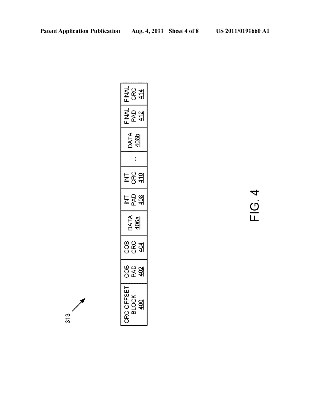 Apparatus, System, and Method for Specifying Intermediate CRC Locations in     a Data Stream - diagram, schematic, and image 05