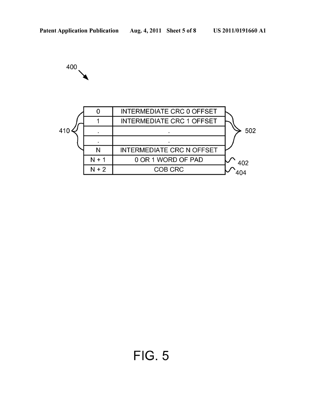 Apparatus, System, and Method for Specifying Intermediate CRC Locations in     a Data Stream - diagram, schematic, and image 06