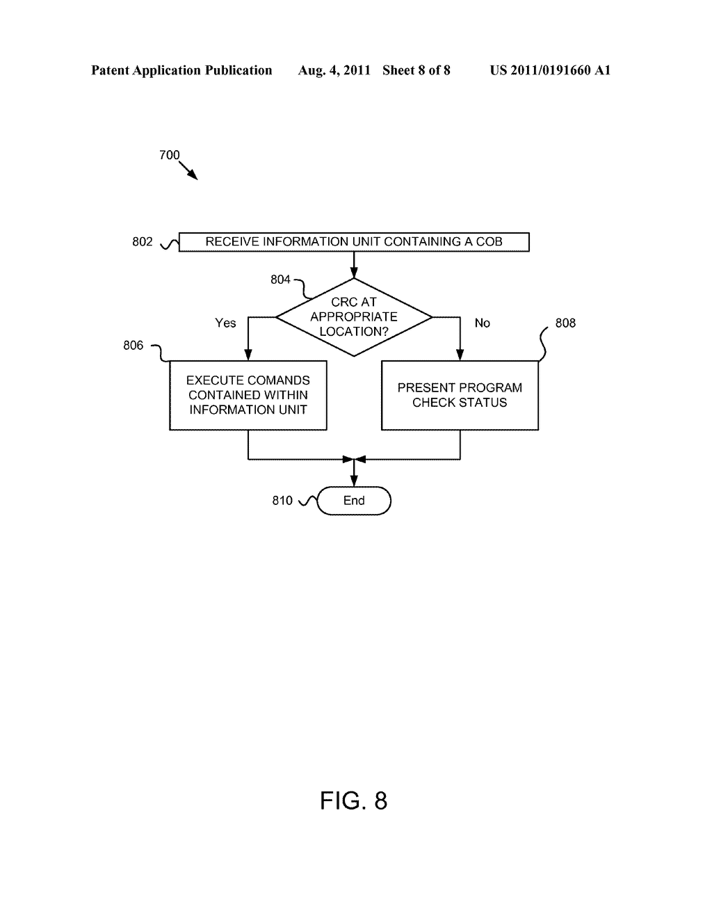 Apparatus, System, and Method for Specifying Intermediate CRC Locations in     a Data Stream - diagram, schematic, and image 09