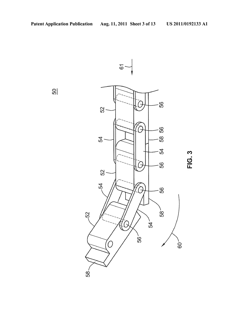 push chain with a bias spring to prevent buckling diagram
