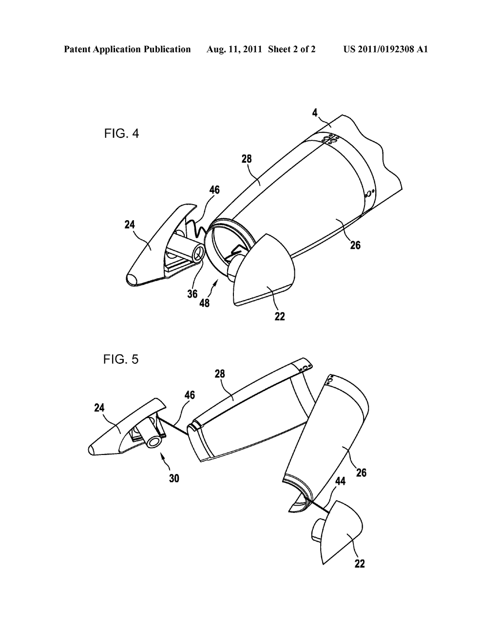 Missile Head And Method For Separating A Shroud From Fuselage Of Engine Diagram Schematic Image 03