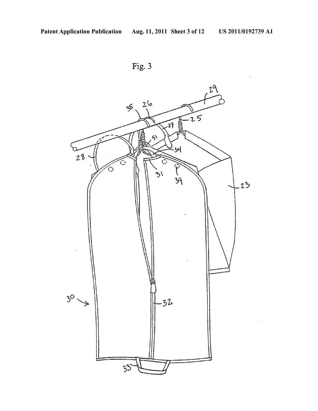 Multiple Garment Bag Systems and Methods of Use - diagram, schematic, and image 04