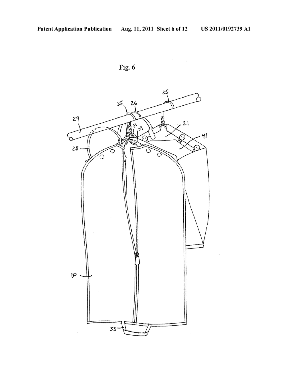 Multiple Garment Bag Systems and Methods of Use - diagram, schematic, and image 07