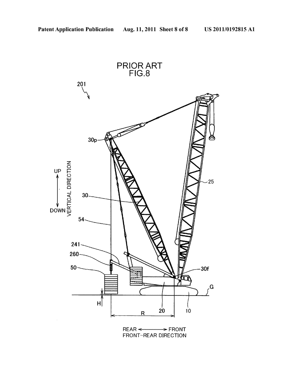 mobile crane having counterweight diagram schematic and image 09 rh patentsencyclopedia com crane chemical crane schematic minecraft