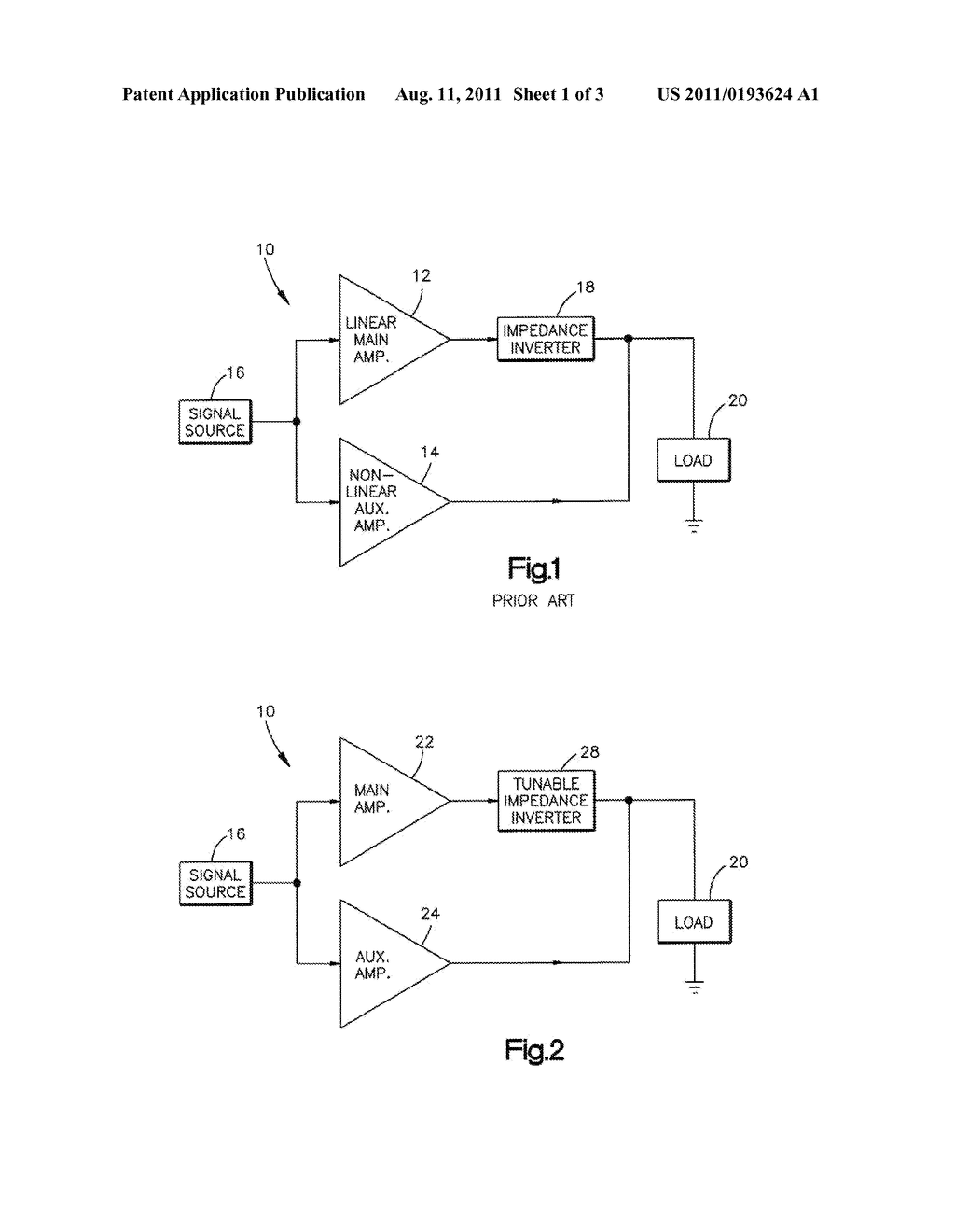 TUNABLE IMPEDANCE INVERTER FOR DOHERTY AMPLIFIER CIRCUIT - diagram,  schematic, and image 02
