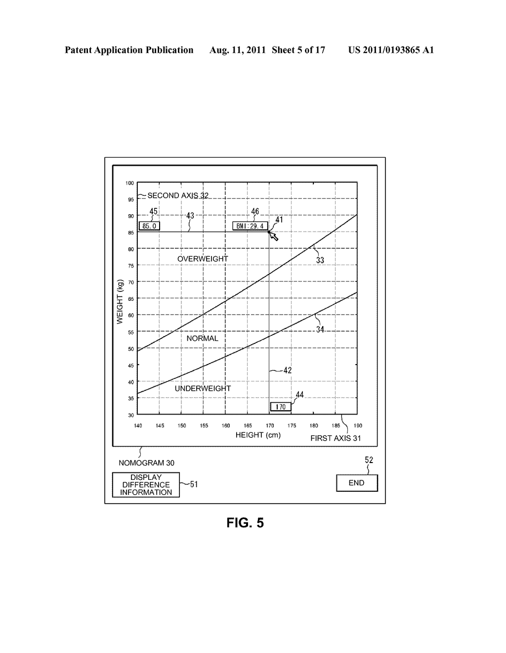 ELECTRONIC NOMOGRAM AND METHOD OF DISPLAYING ELECTRONIC NOMOGRAM - diagram, schematic, and image 06