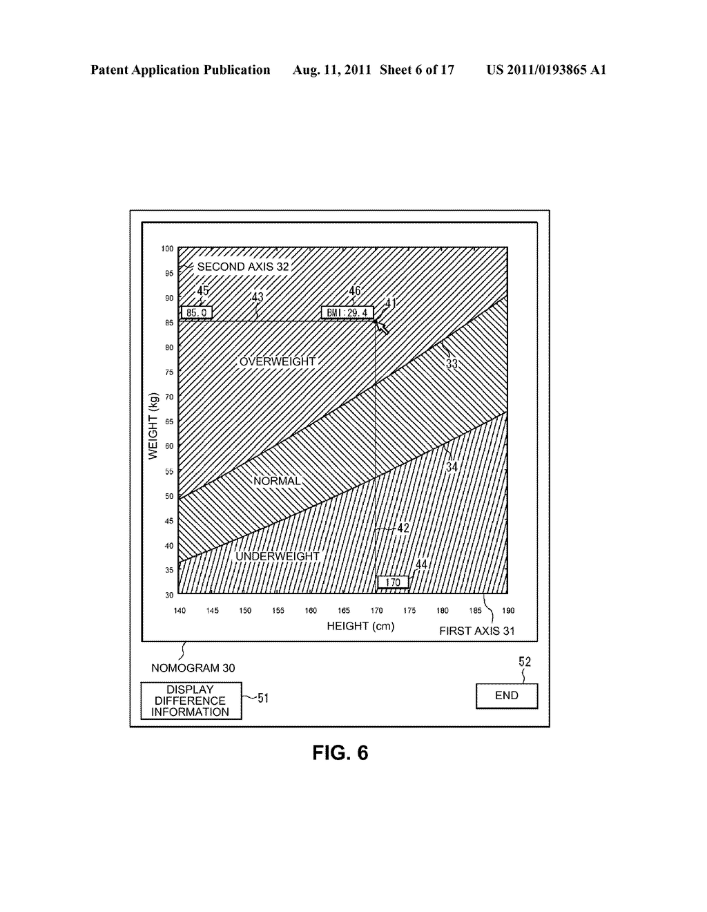 ELECTRONIC NOMOGRAM AND METHOD OF DISPLAYING ELECTRONIC NOMOGRAM - diagram, schematic, and image 07