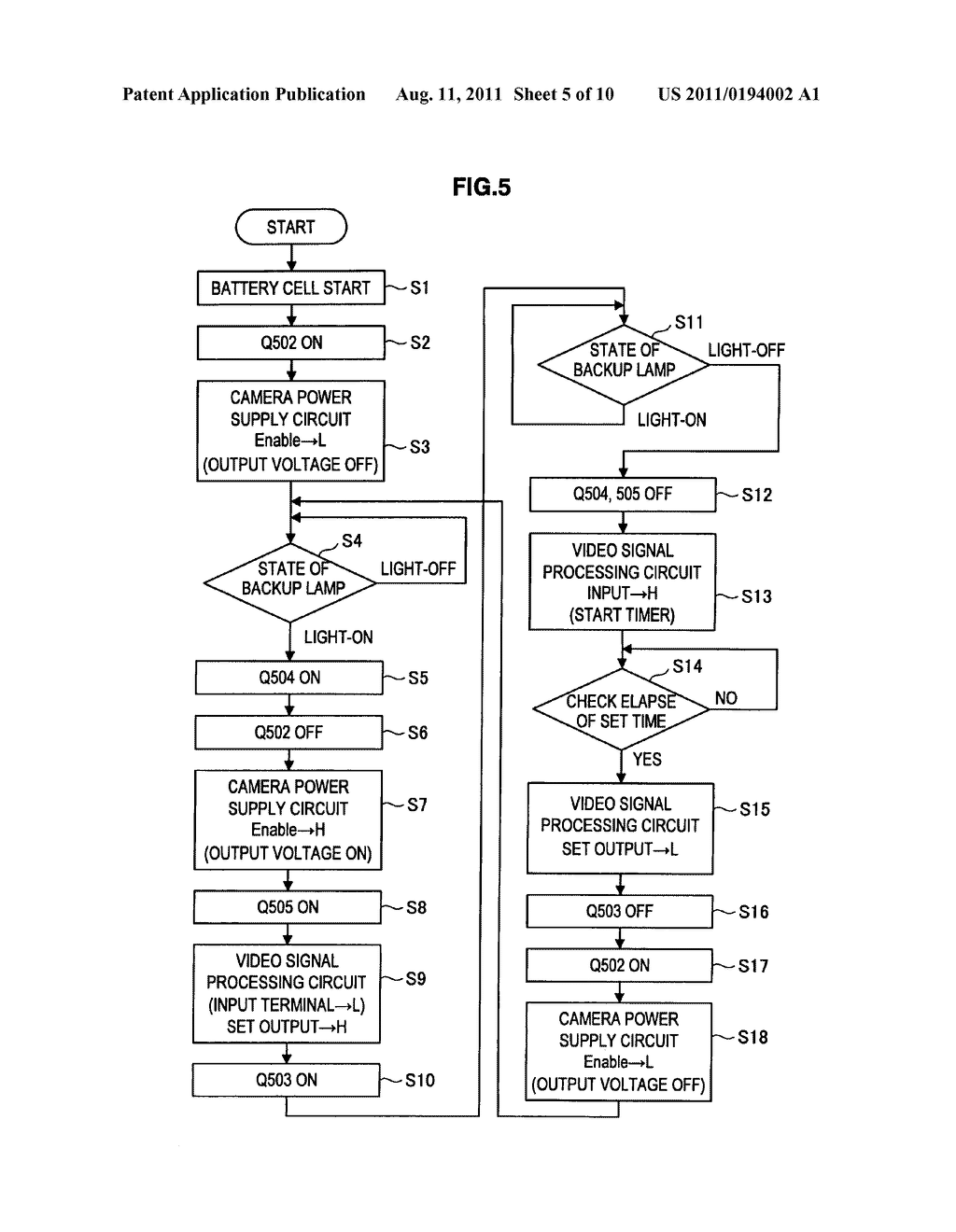 Imaging device and power supply control method of imaging device - diagram, schematic, and image 06