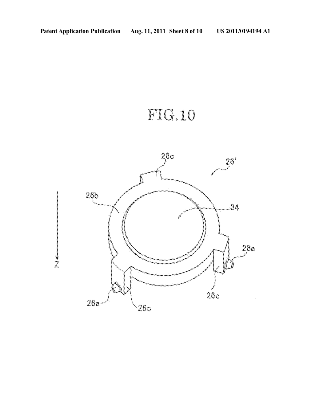 LENS BARREL AND IMAGING DEVICE AND HAND-HELD DATA TERMINAL DEVICE     INCLUDING THE SAME - diagram, schematic, and image 09