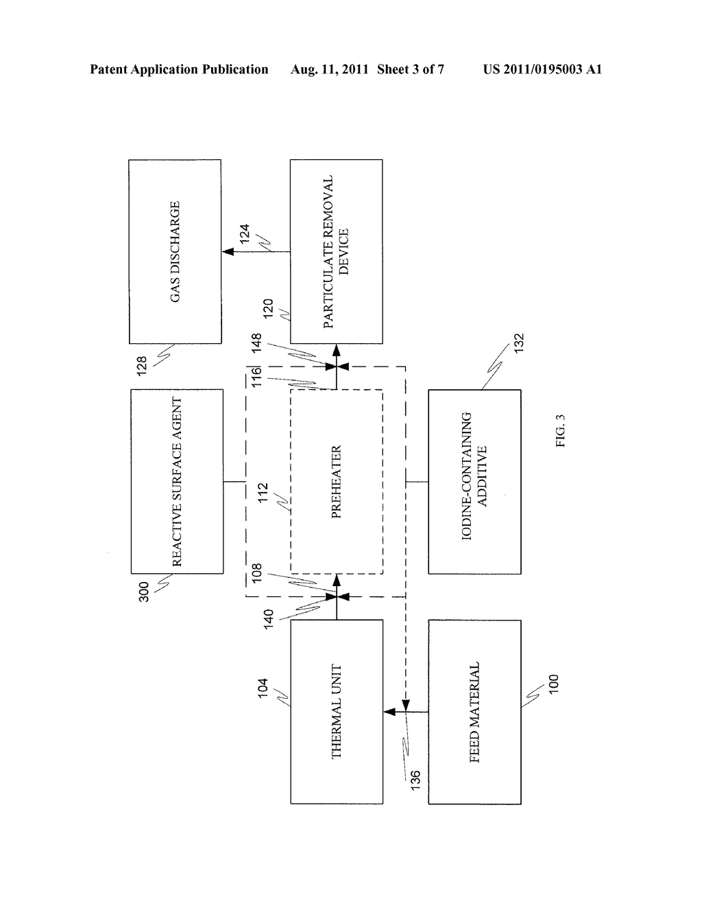 METHOD AND SYSTEM FOR CONTROLLING MERCURY EMISSIONS FROM COAL-FIRED     THERMAL PROCESSES - diagram, schematic, and image 04