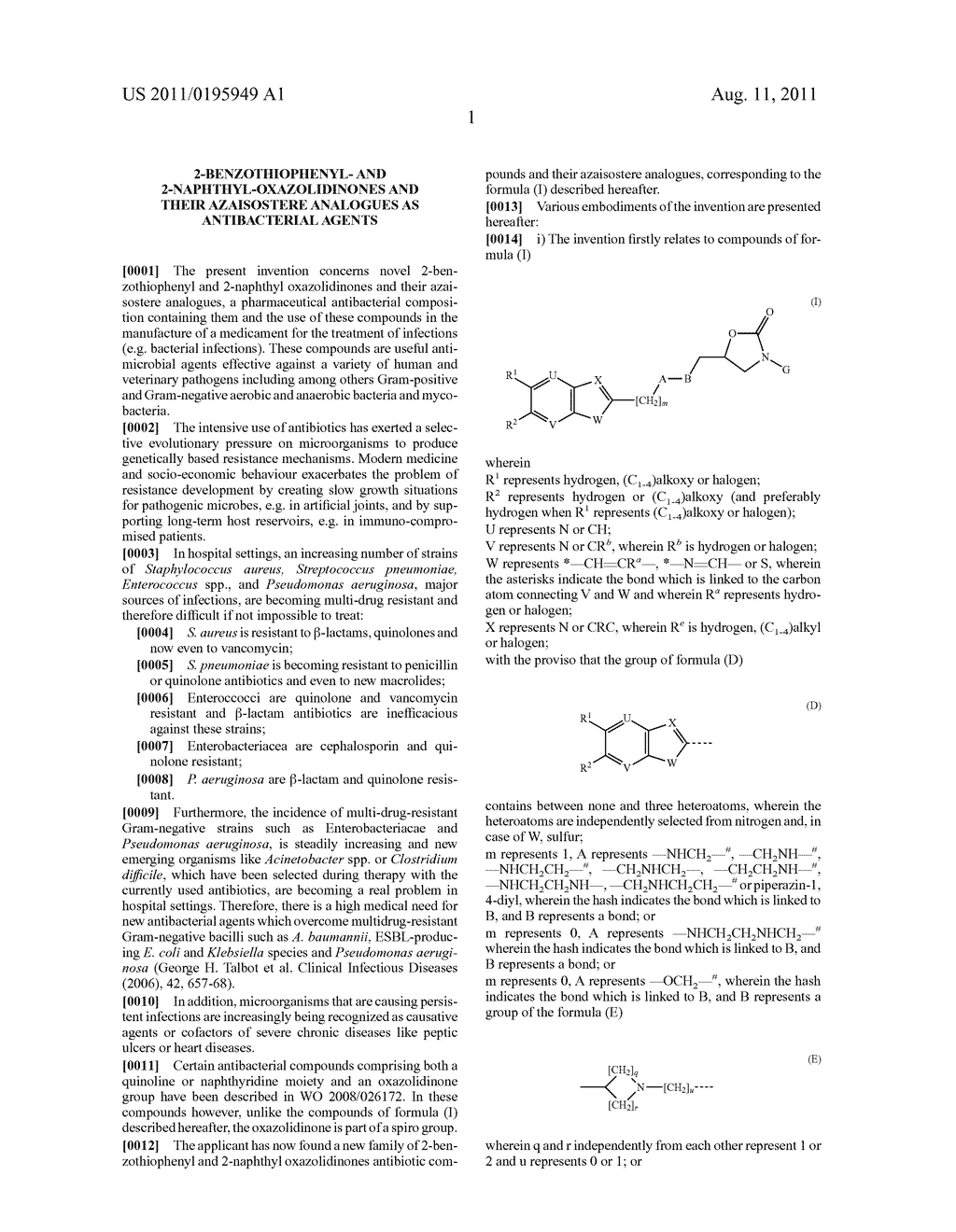 2-BENZOTHIOPHENYL- AND 2-NAPHTHYL-OXAZOLIDINONES AND THEIR AZAISOSTERE     ANALOGUES AS ANTIBACTERIAL AGENTS - diagram, schematic, and image 02
