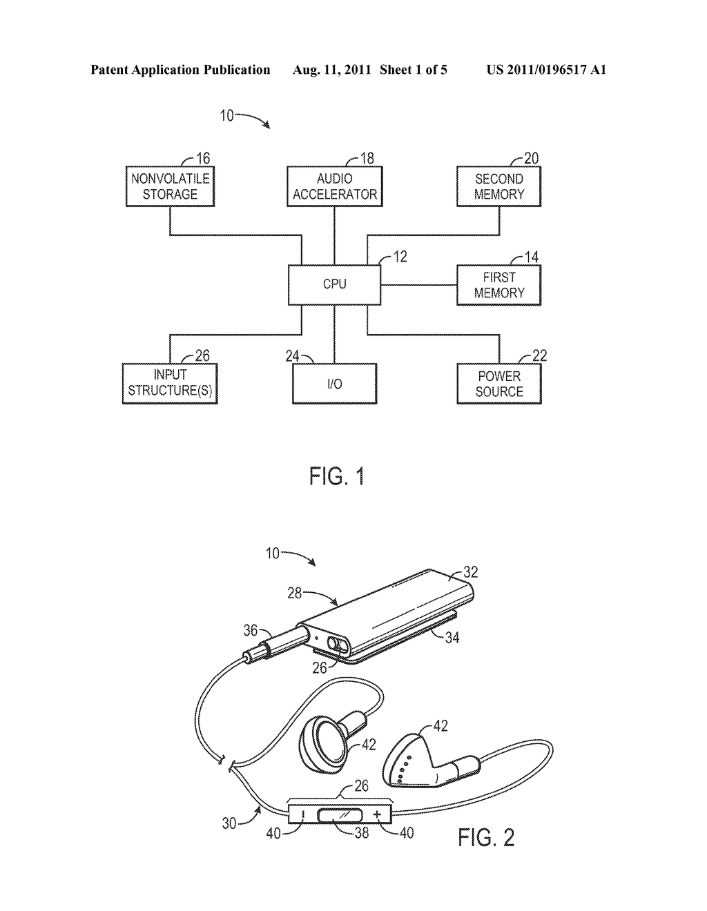 System and Method for Performing Audio Processing Operations by Storing     Information Within Multiple Memories - diagram, schematic, and image 02