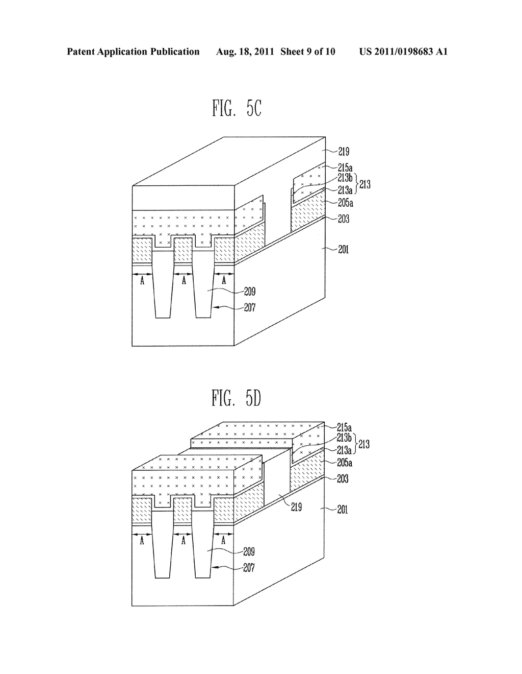 Patterns of Nonvolatile Memory Device and Method of Forming the Same - diagram, schematic, and image 10