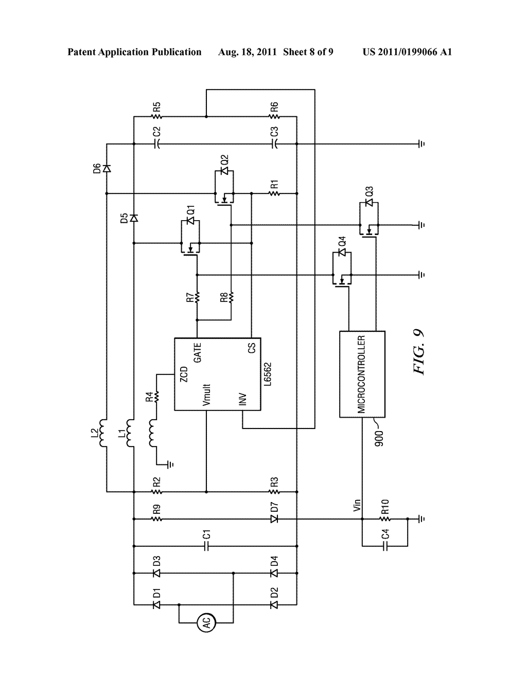 WIDE INPUT VOLTAGE RANGE POWER FACTOR CORRECTION CIRCUIT - diagram, schematic, and image 09