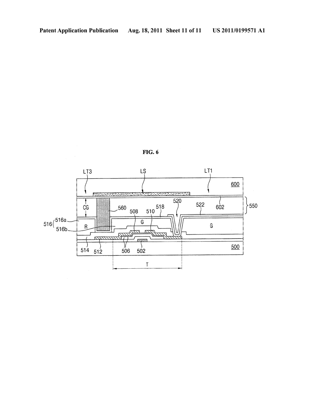 SUBSTRATE FOR LIQUID CRYSTAL DISPLAY DEVICE AND METHOD OF FABRICATING THE     SAME - diagram, schematic, and image 12