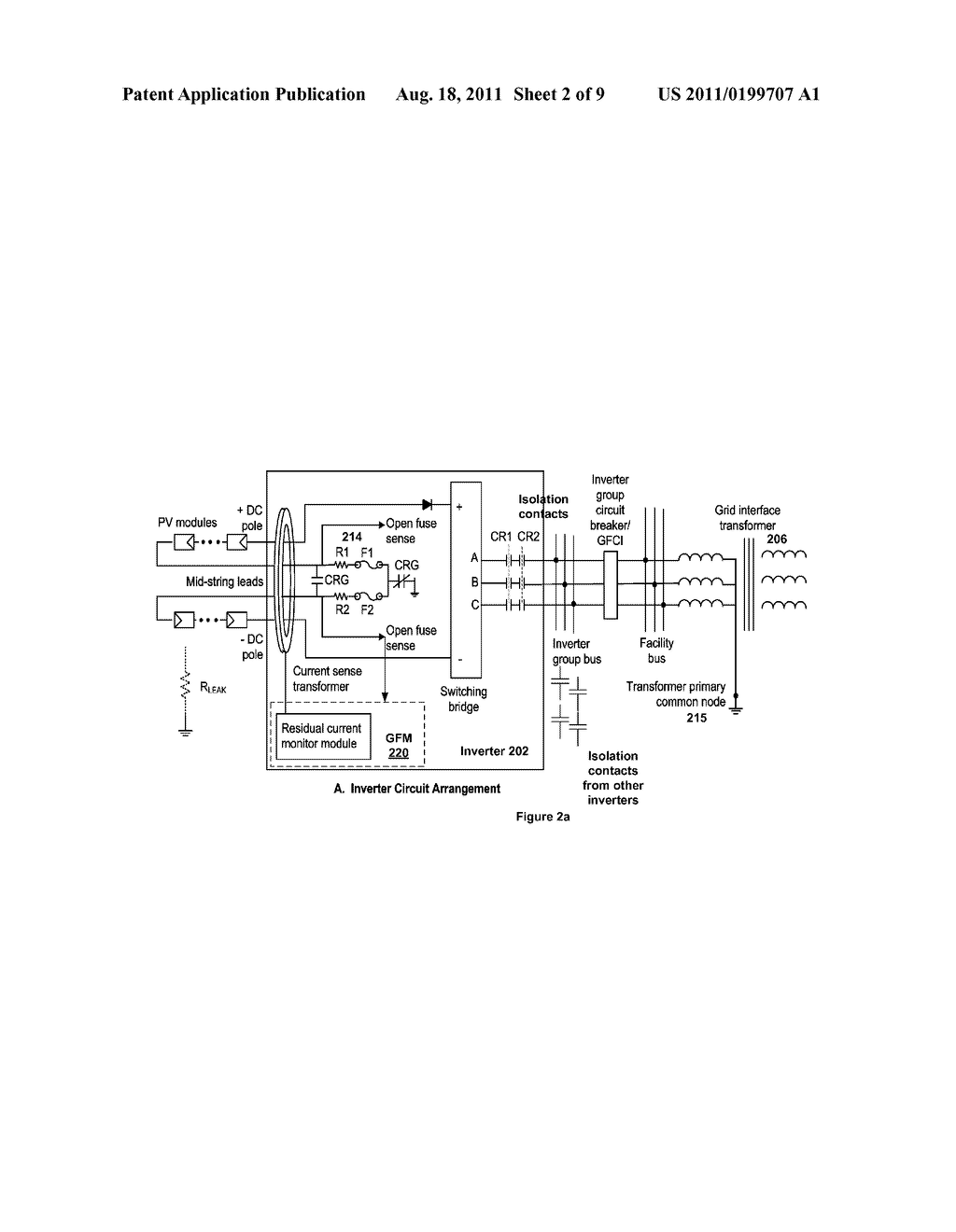 Photovoltaic Array Ground Fault Detection Method For Utility Scale Solar Panel Grounding Wiring Diagram Grounded Electric Power Generating Systems Schematic And Image 03