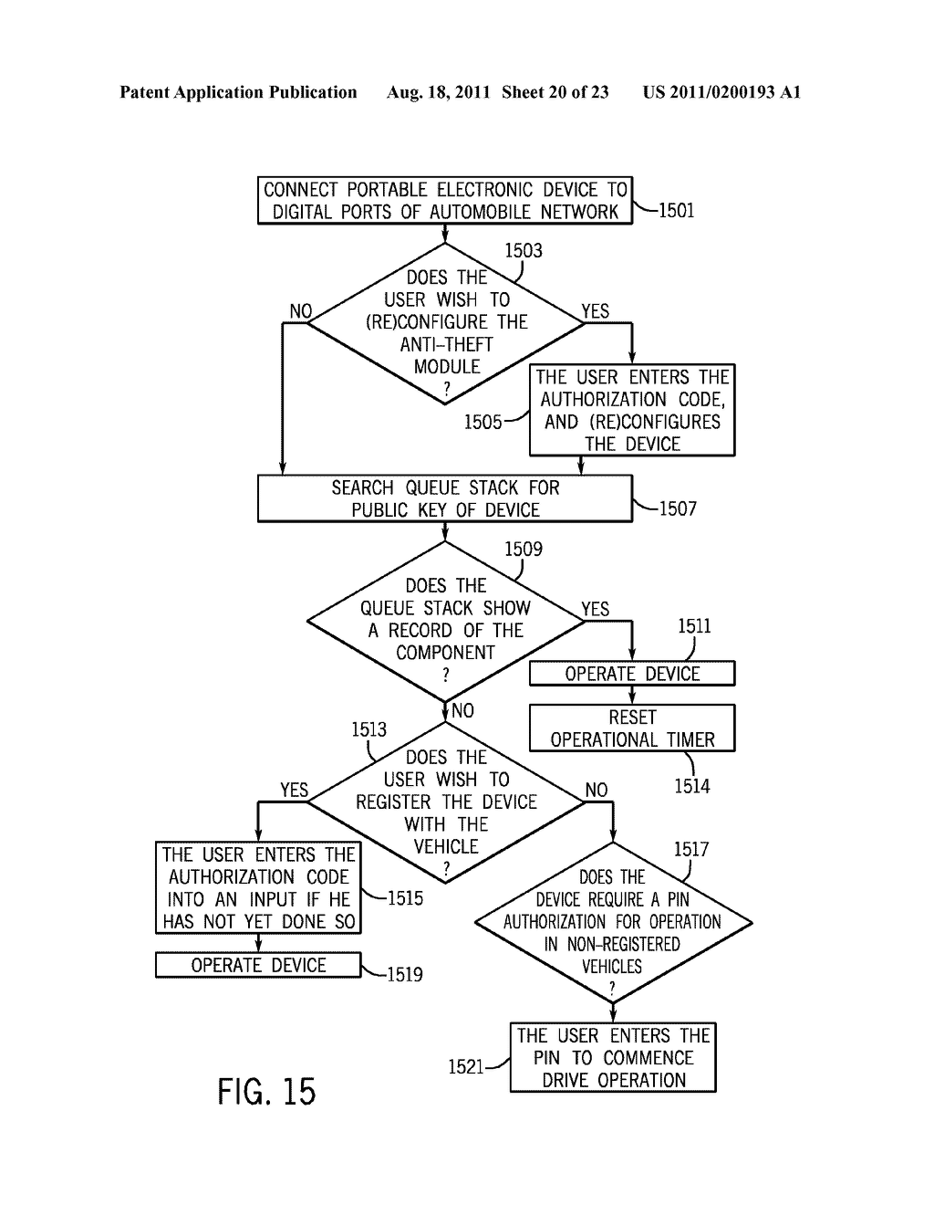 METHOD AND APPARATUS FOR CONTROLLING THE RECHARGING OF ELECTRIC VEHICLES     AND DETECTING STOLEN VEHICLES AND VEHICULAR COMPONENTS - diagram, schematic, and image 21