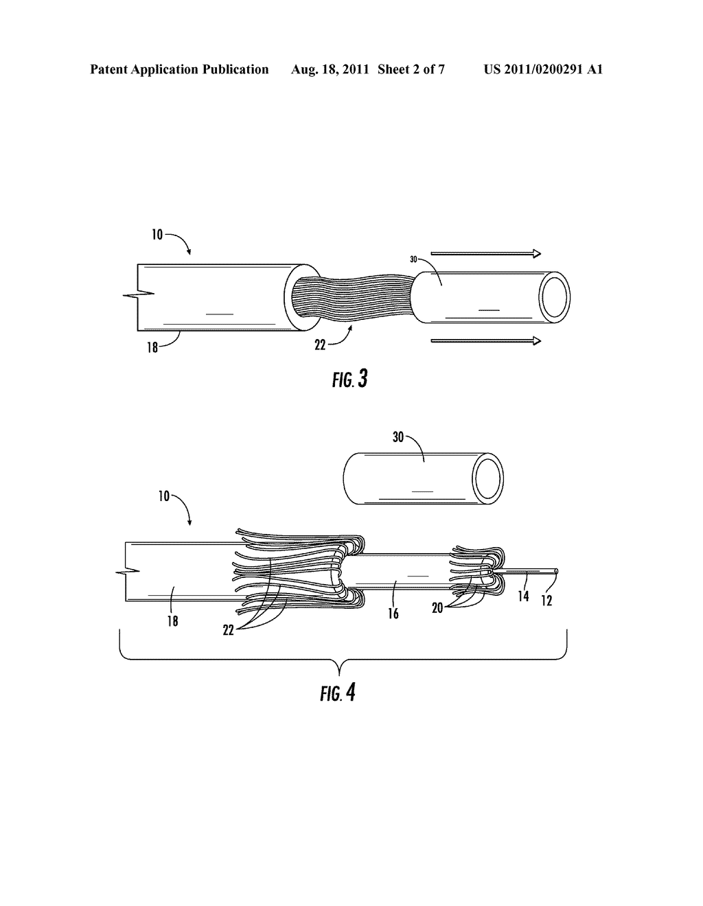 CABLE WITH MULTIPLE JACKETS AND TRANSITION ELEMENTS AND ASSEMBLIES     THEREFOR - diagram, schematic, and image 03
