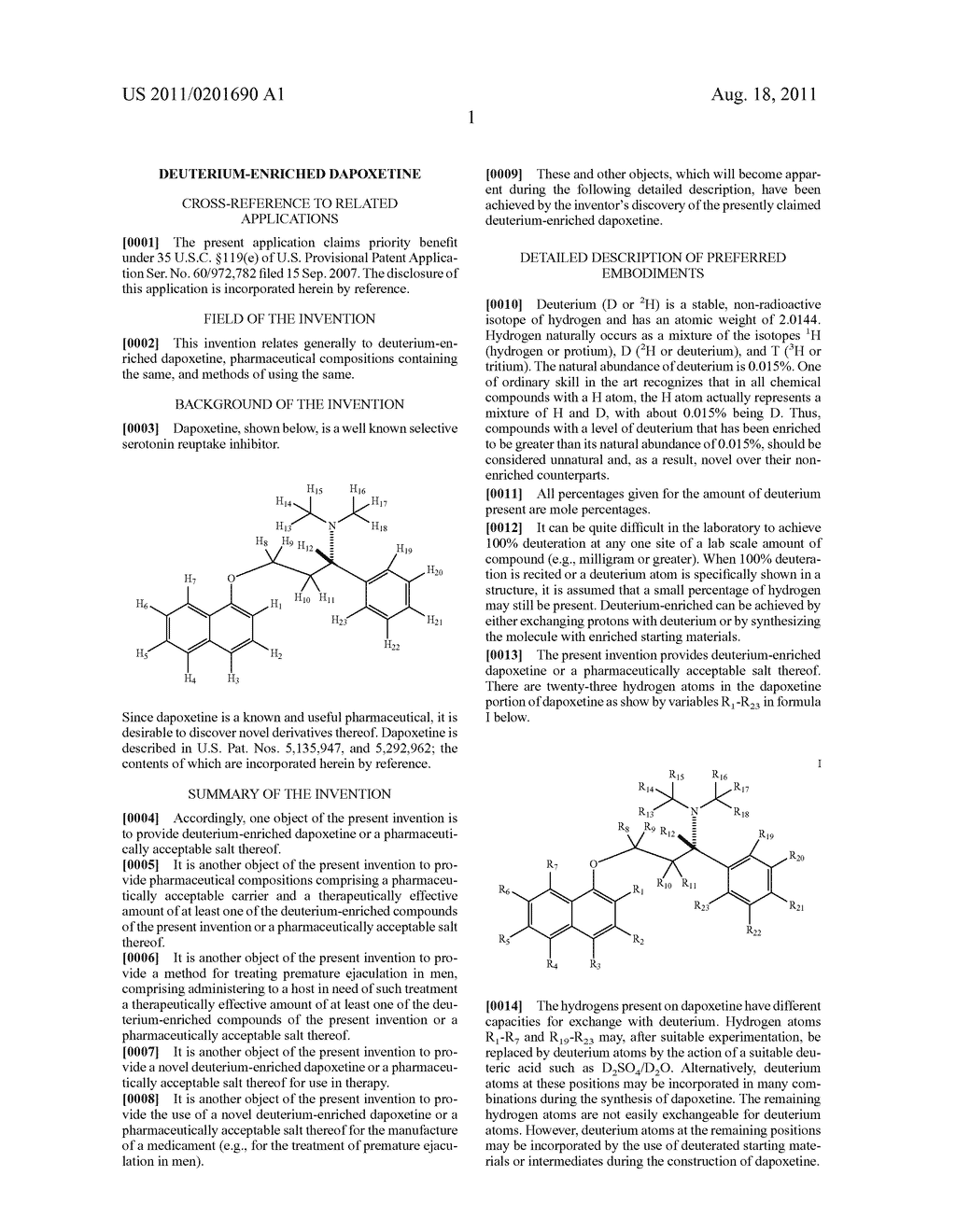 DEUTERIUM-ENRICHED DAPOXETINE - diagram, schematic, and image 02