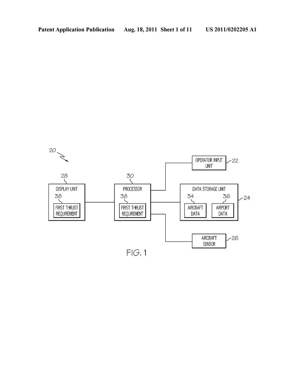 SYSTEM AND METHOD FOR DISPLAYING CONTROL RELATED INFORMATION TO AN     AIRCRAFT OPERATOR - diagram, schematic, and image 02