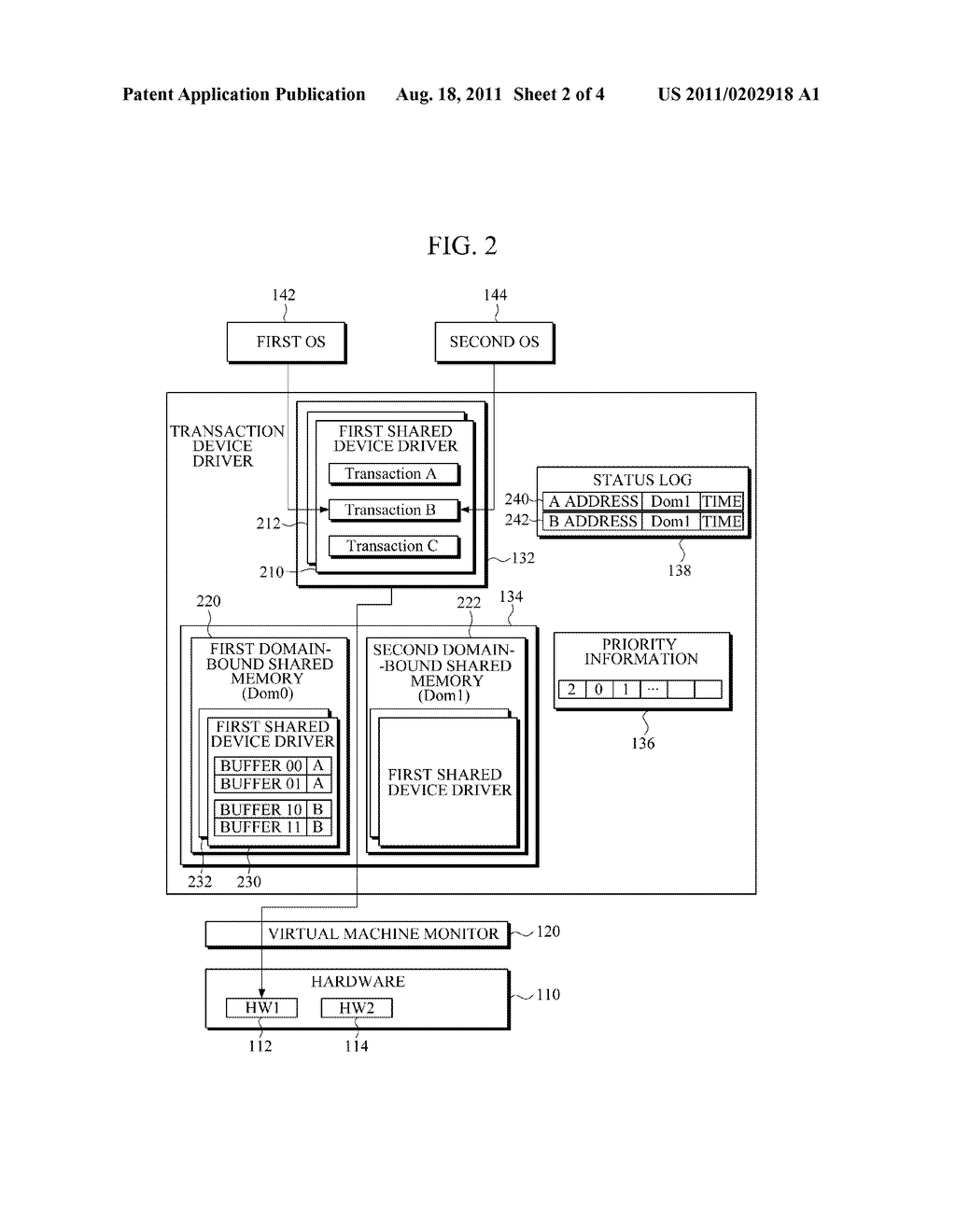 VIRTUALIZATION APPARATUS FOR PROVIDING A TRANSACTIONAL INPUT/OUTPUT     INTERFACE - diagram, schematic, and image 03
