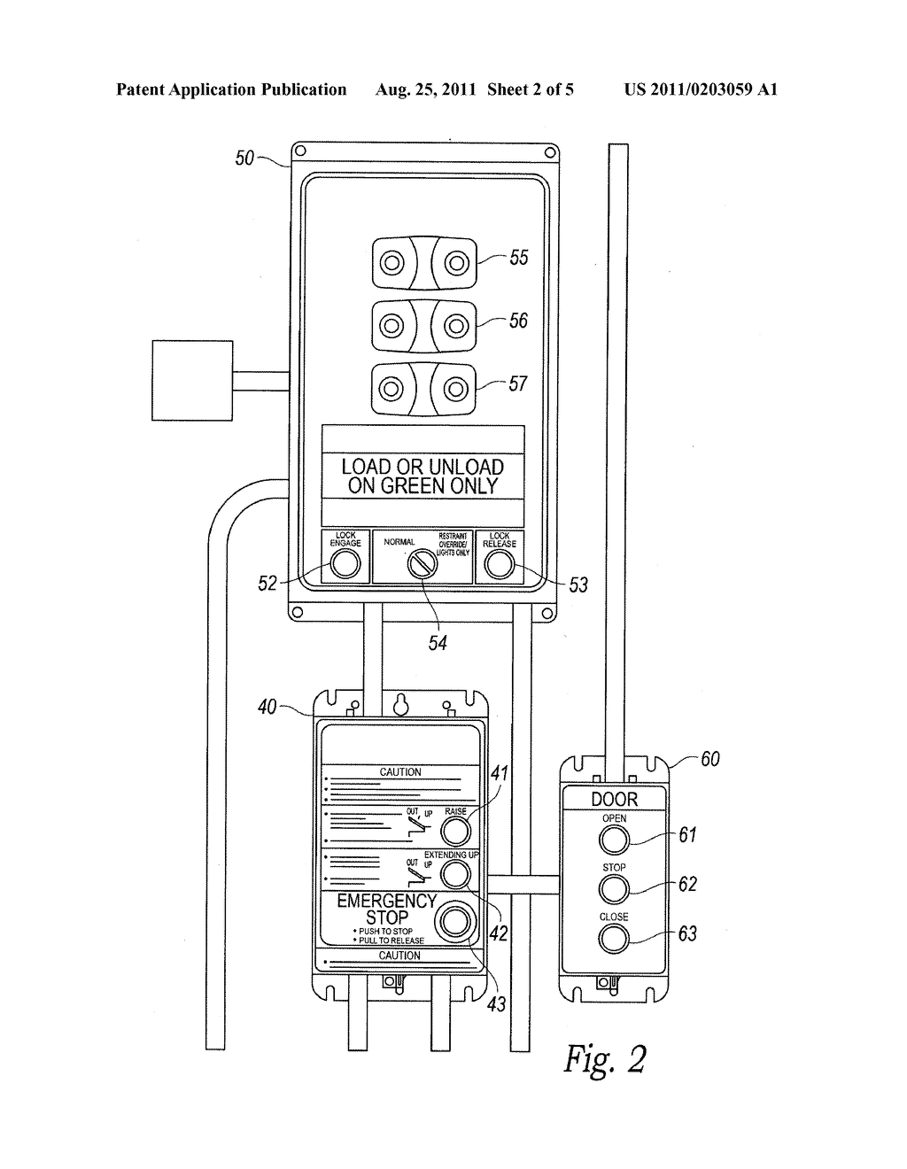 LOADING DOCK LIGHTING SYSTEMS HAVING WARNING FEATURES diagram
